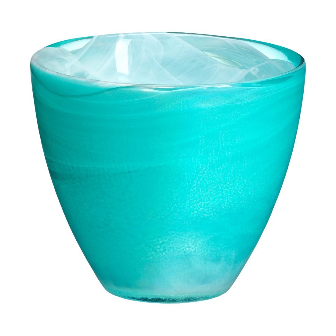 Teelichthalter Candy – Recyceltes Glas Türkis, SEA glasbruk jetzt bestellen