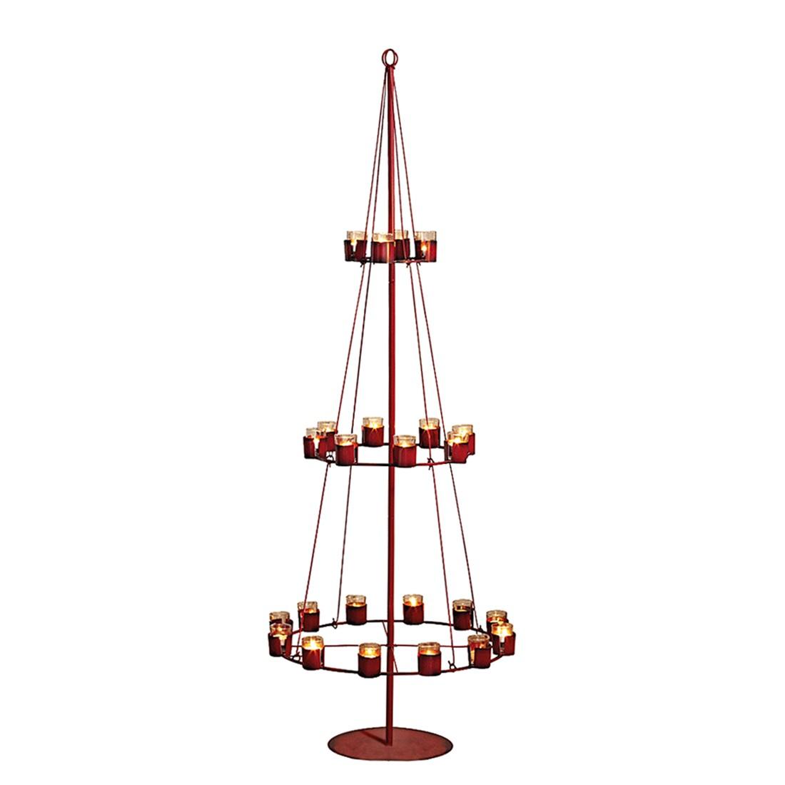 teelichthalter christbaum metall glas rot pureday. Black Bedroom Furniture Sets. Home Design Ideas