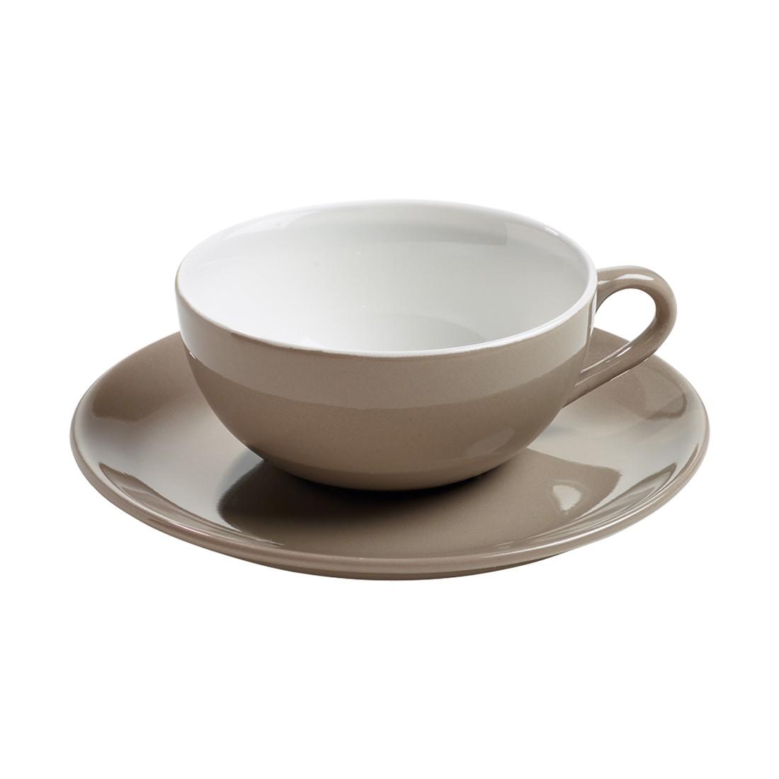 Teetasse mit Untertasse InfusionsT – Porzellan Taupe, Maxwell und Williams günstig kaufen