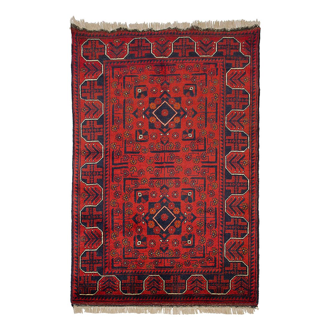 Teppich Afghan Khal Mohammadi – Rot – 80 x 120 cm, Parwis jetzt bestellen