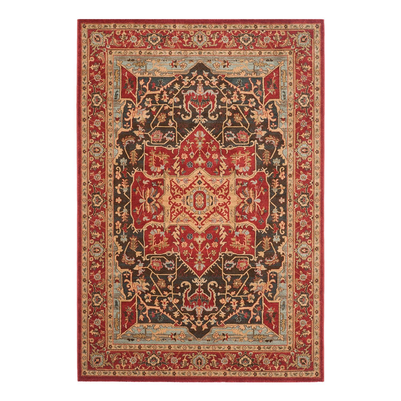 Teppich Alberto - Rot / Beige - 200 x 279 cm, Safavieh