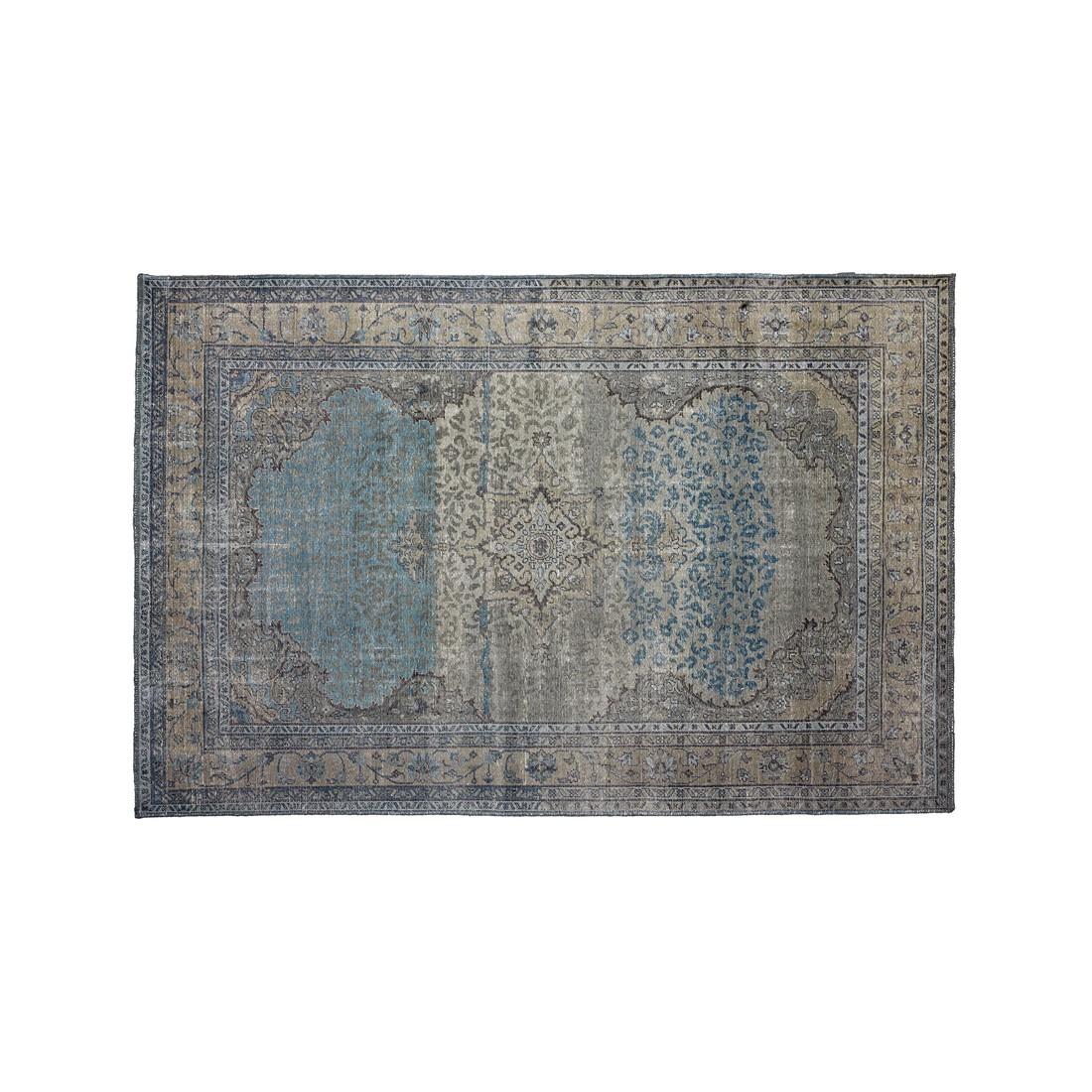Teppich Amol - Wolle - Blau/Grau - 300 x 200, ikarus
