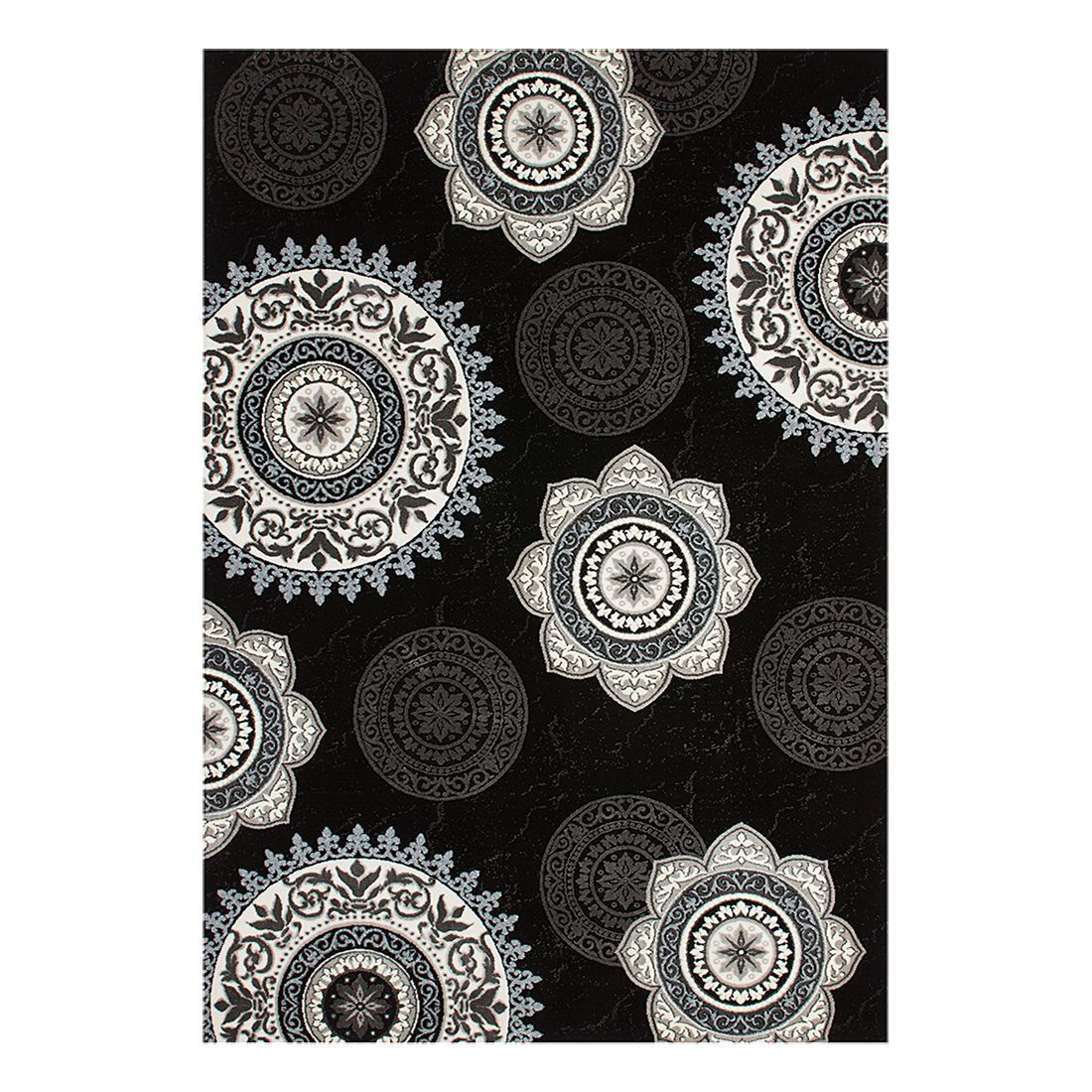 Teppich Aura – Schwarz – 80 x 150 cm, Kayoom günstig online kaufen