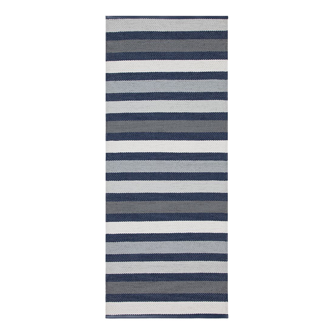 In-/Outdoorteppich Baia I – Kunstfaser MarineBlau/Grau/KaltWeiß – 60 x 200 cm, Swedy jetzt kaufen