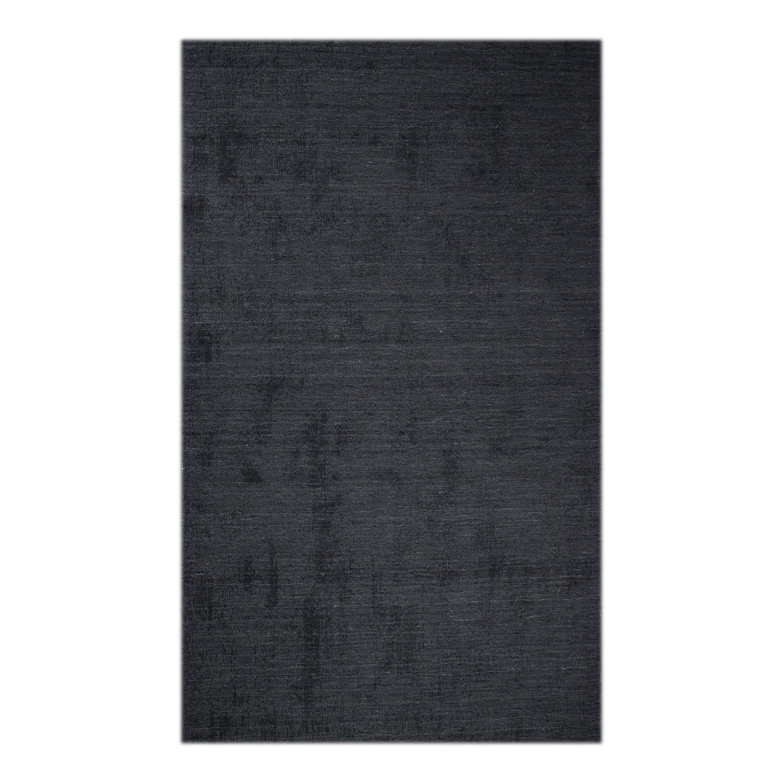 Teppich Barletta - Wolle - Dunkelgrau - 200 x 300 cm, Zuiver