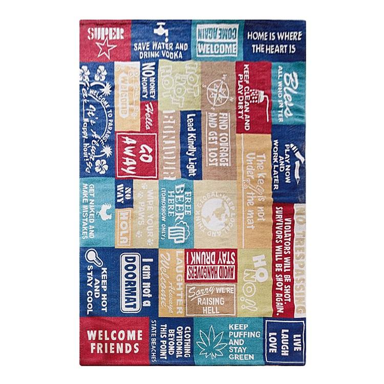 Teppich – Baumwolle – Bunt – 170 x 240 cm, PureDay günstig
