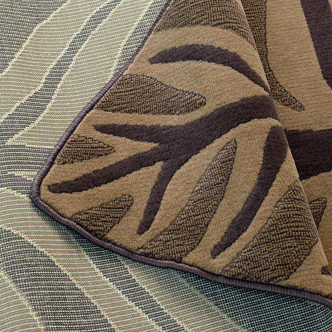 teppich blatt braun 100 x 160 cm wohnzimmer teppiche ebay. Black Bedroom Furniture Sets. Home Design Ideas