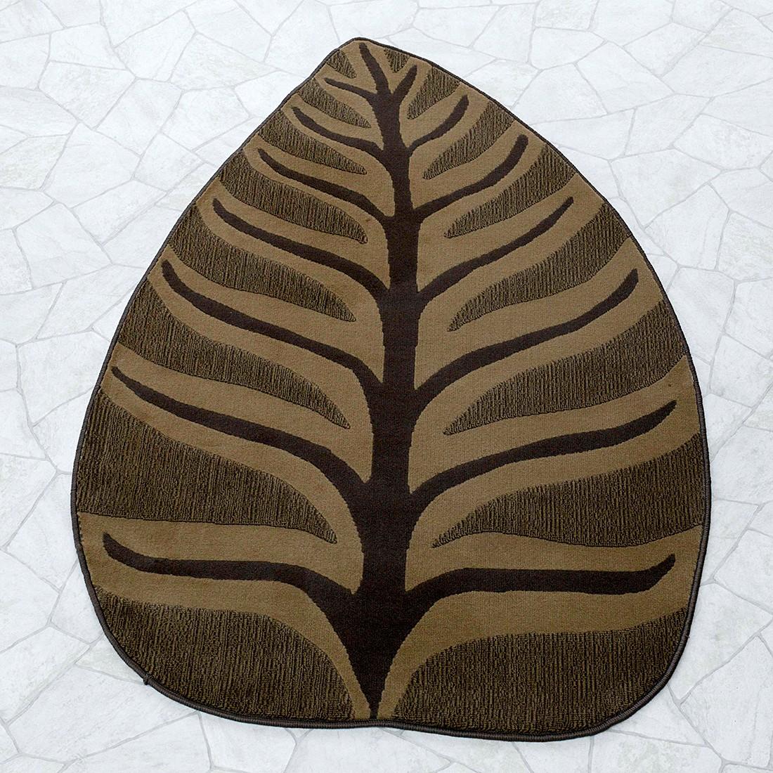 Teppich Blatt Braun 100 X 160 Cm Wohnzimmer Teppiche Ebay