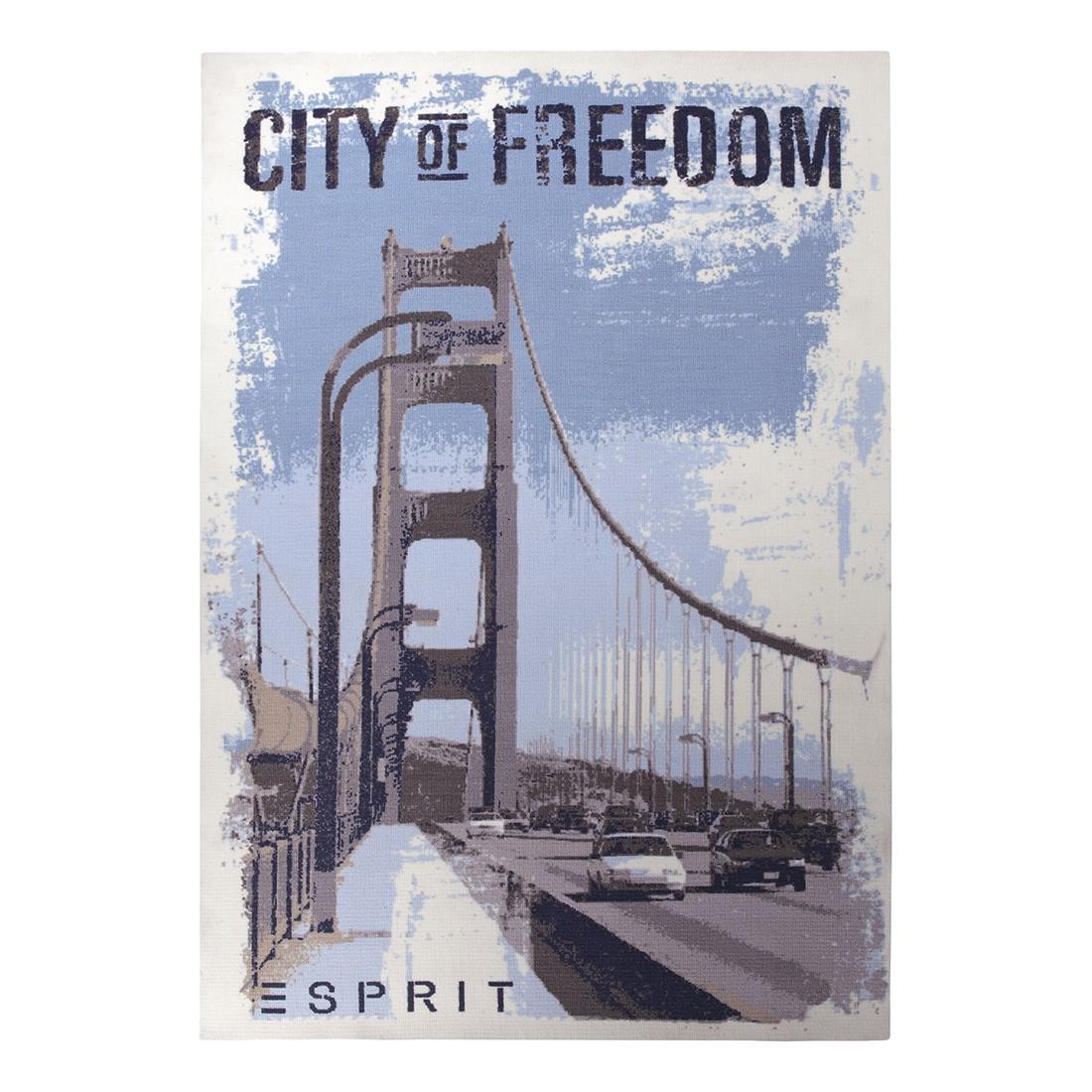 Teppich City of Freedom – Hellblau – 120 cm x 180 cm, Esprit Home bestellen