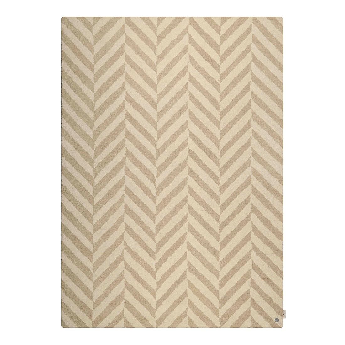 Teppich Country Zigzag – Beige – Maße: 65 x 135 cm, Tom Tailor günstig