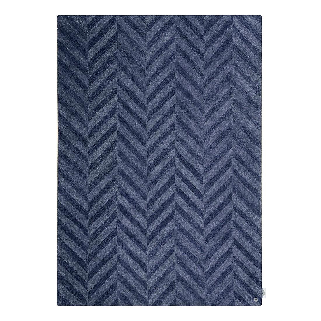 Teppich Country Zigzag – Blau – Maße: 65 x 135 cm, Tom Tailor online kaufen