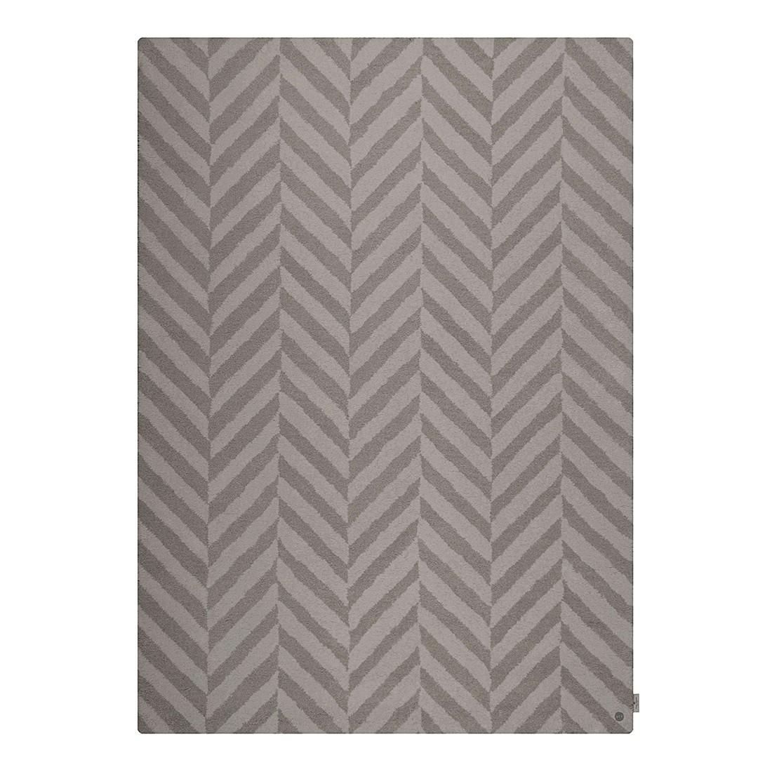 Teppich Country Zigzag – Grau – Maße: 190 x 290 cm, Tom Tailor günstig online kaufen