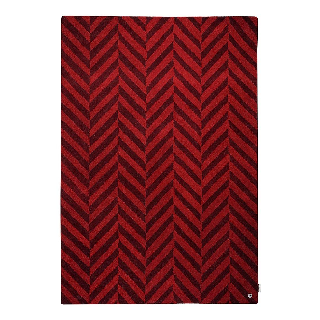 Teppich Country Zigzag – Rot – Maße: 140 x 200 cm, Tom Tailor jetzt kaufen