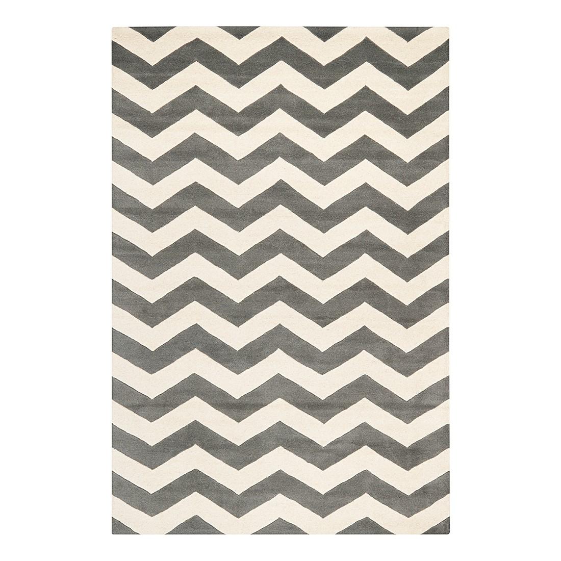 Teppich Crosby – Dunkelgrau/Elfenbein – Maße:  121 x 182  cm, Safavieh online kaufen
