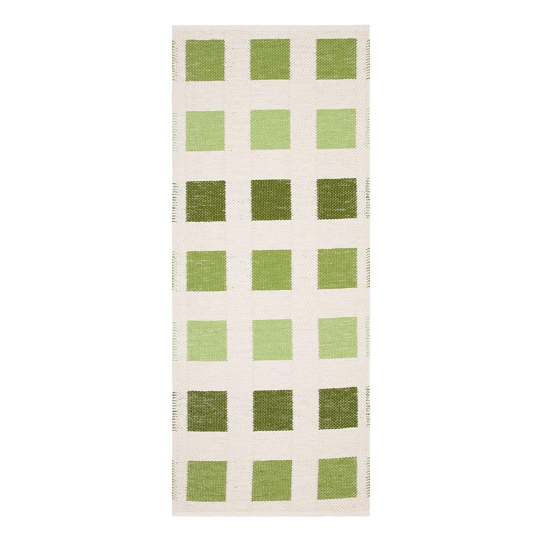tapis cubo fibre synth tique verte blanc cr me 60 x 150 cm. Black Bedroom Furniture Sets. Home Design Ideas