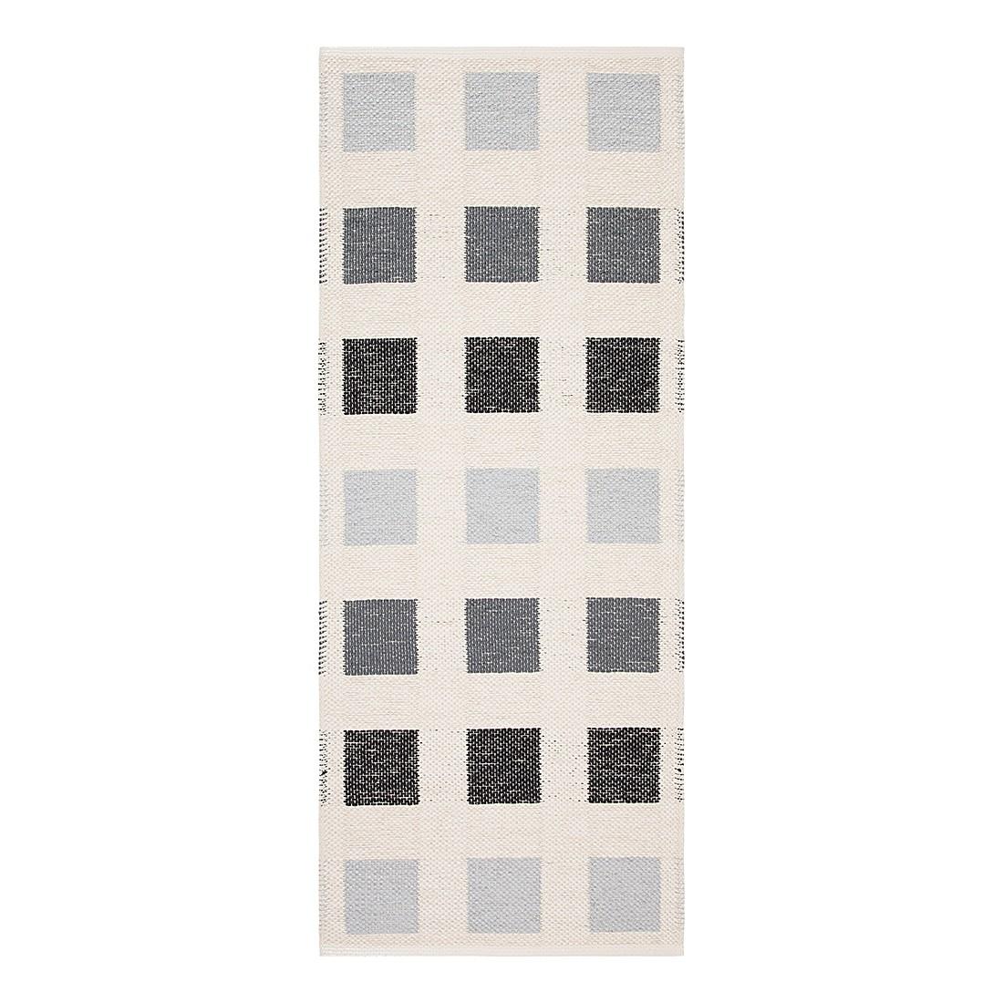 In-/Outdoorteppich Cubo I – Kunstfaser Schwarz/Grau/Cremeweiß – 60 x 190 cm, Swedy günstig bestellen