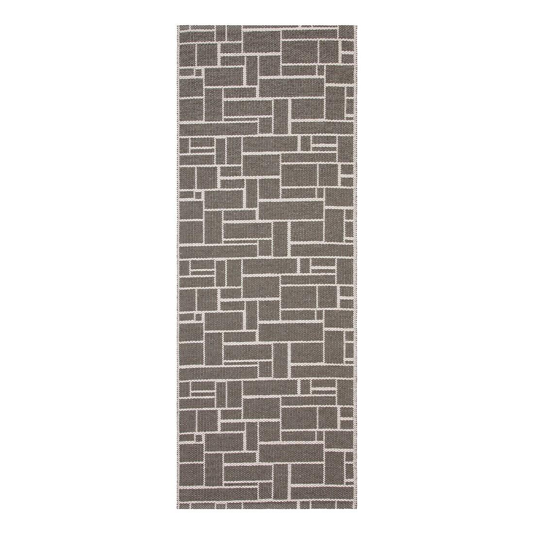 In-/Outdoorteppich Dama I – Kunstfaser SchieferGrau/Hellgrau – 60 x 200 cm, Swedy jetzt kaufen