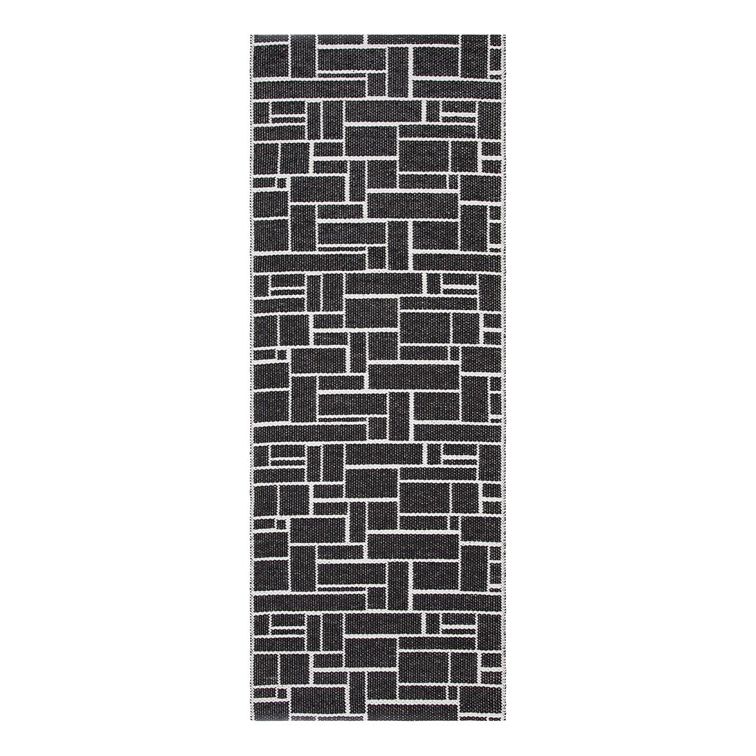 In-/Outdoorteppich Dama I – Kunstfaser Schwarz/Weiß – 60 x 160 cm, Swedy kaufen