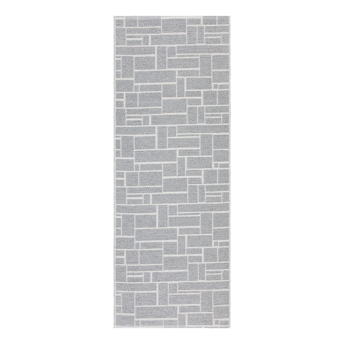 In-/Outdoorteppich Dama Metallic I – Kunstfaser Grau/KaltWeiß – 60 x 120 cm, Swedy günstig kaufen
