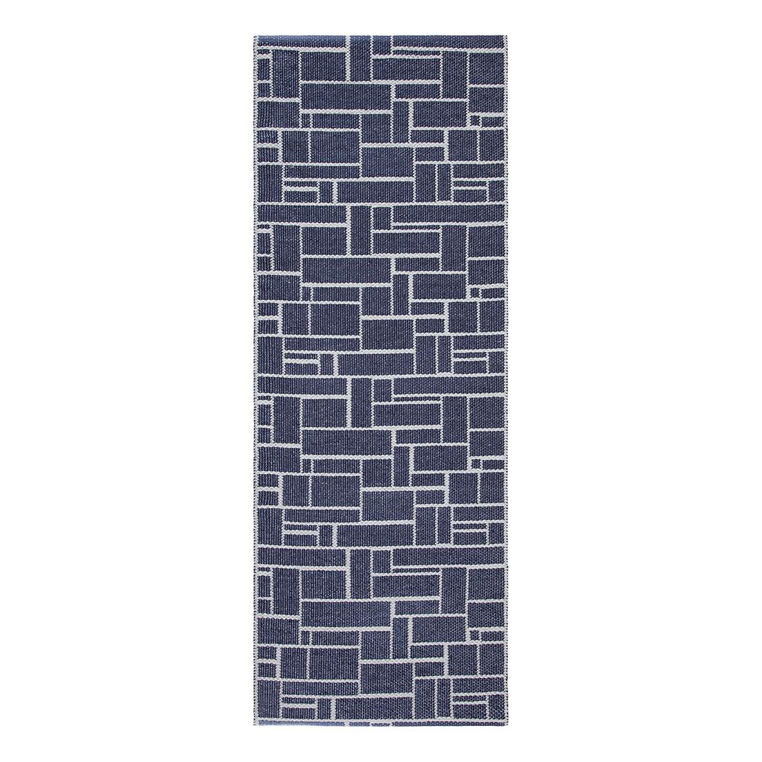 In-/Outdoorteppich Dama Metallic I – Kunstfaser MarineBlau/Beige – 60 x 240 cm, Swedy bestellen