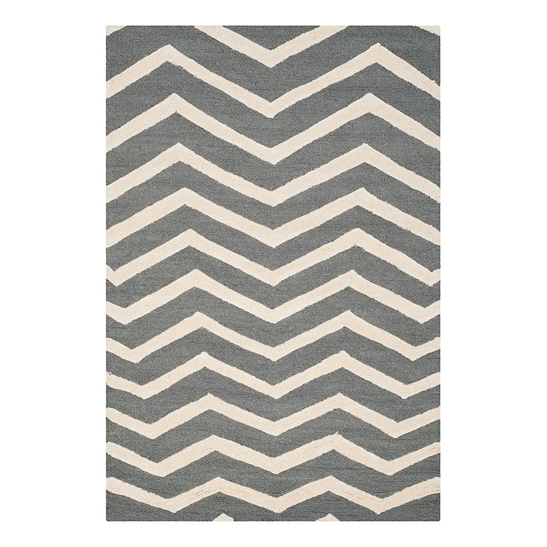 Teppich Edie – Dunkelgrau/Creme – Maße: 182 x 274 cm, Safavieh online bestellen