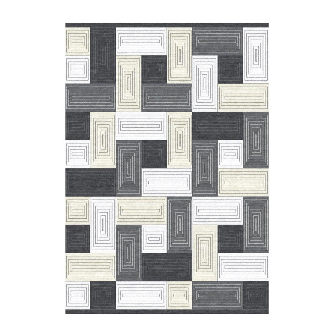 Teppich Efsun Ekin – Grau – Maße: 200 x 290 cm, Kayoom günstig