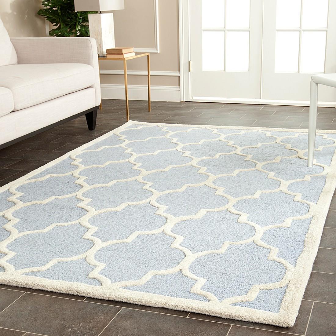 Teppich Everly  HellblauElfenbein  Maße 121 x 182 cm