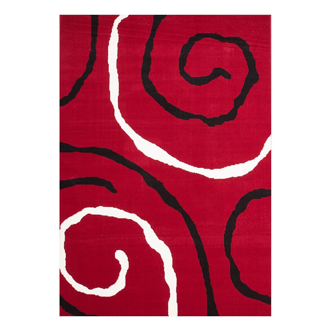 Teppich Blur – Rot – 190 x 280 cm, Kayoom günstig online kaufen