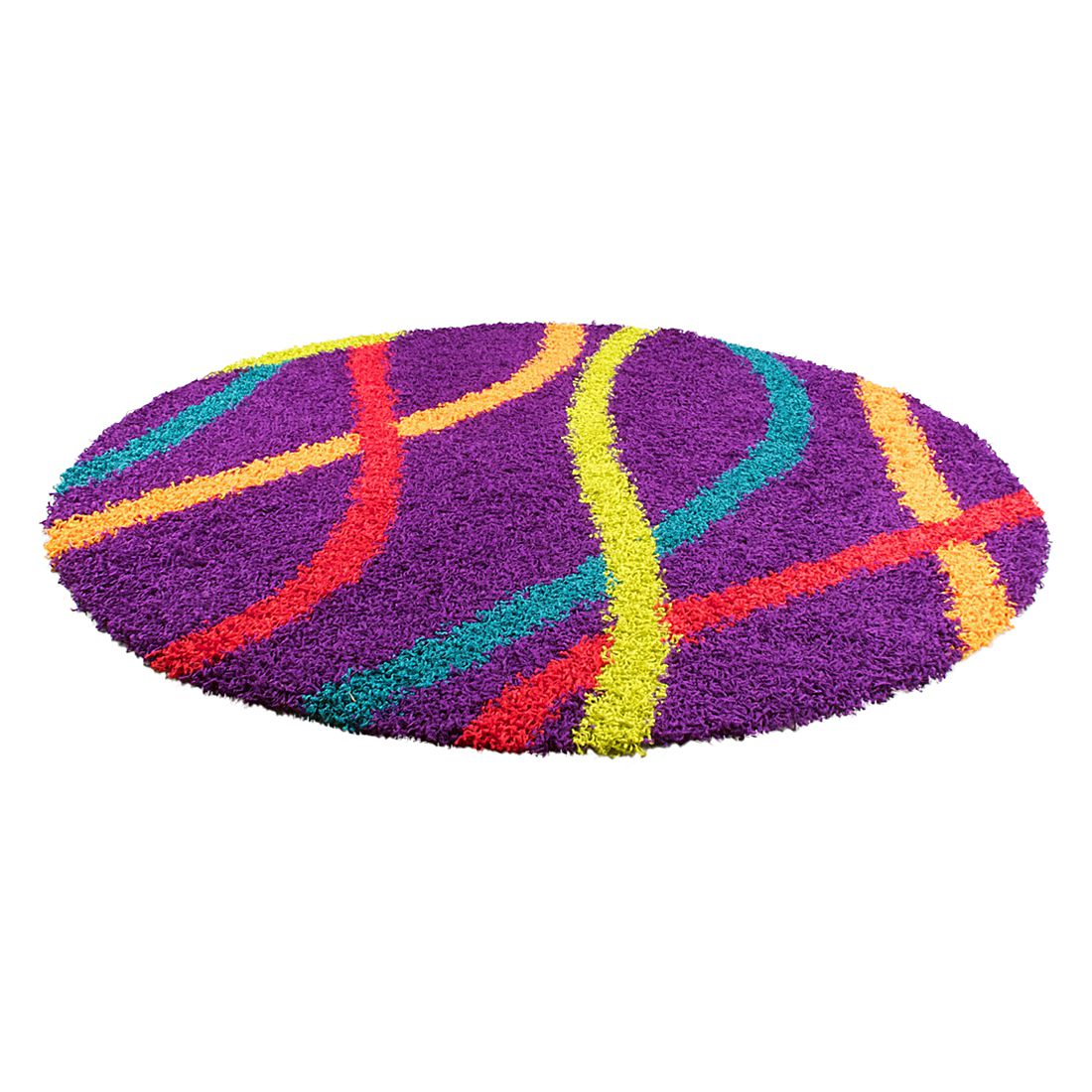 Teppich Happy Shaggy – Lila – Durchmesser: Ø 160 cm, Oriental Weavers online bestellen