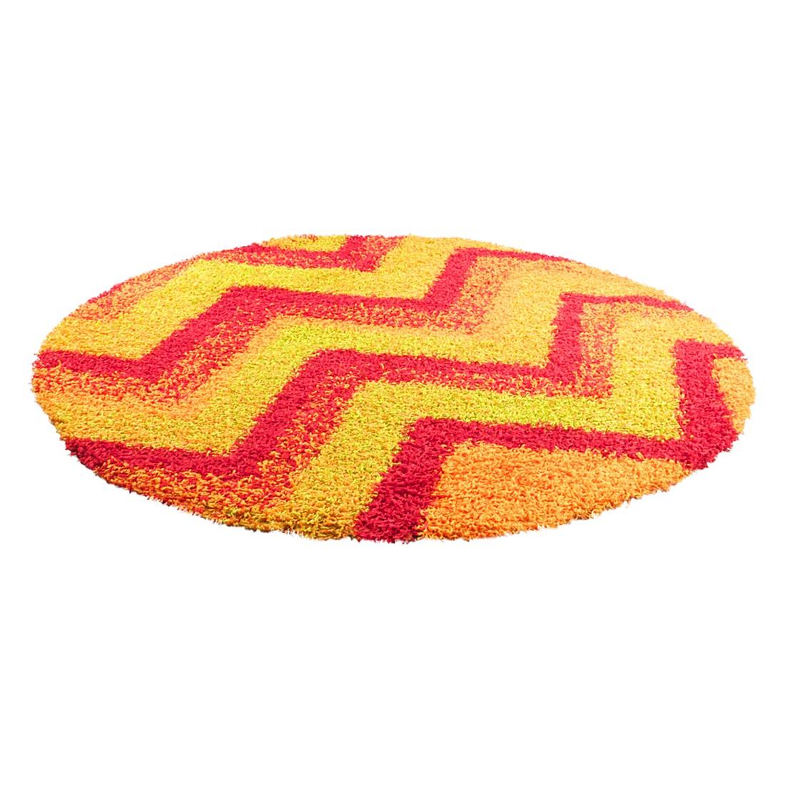 Teppich Happy Shaggy – Rot – Durchmesser: Ø 133 cm, Oriental Weavers bestellen