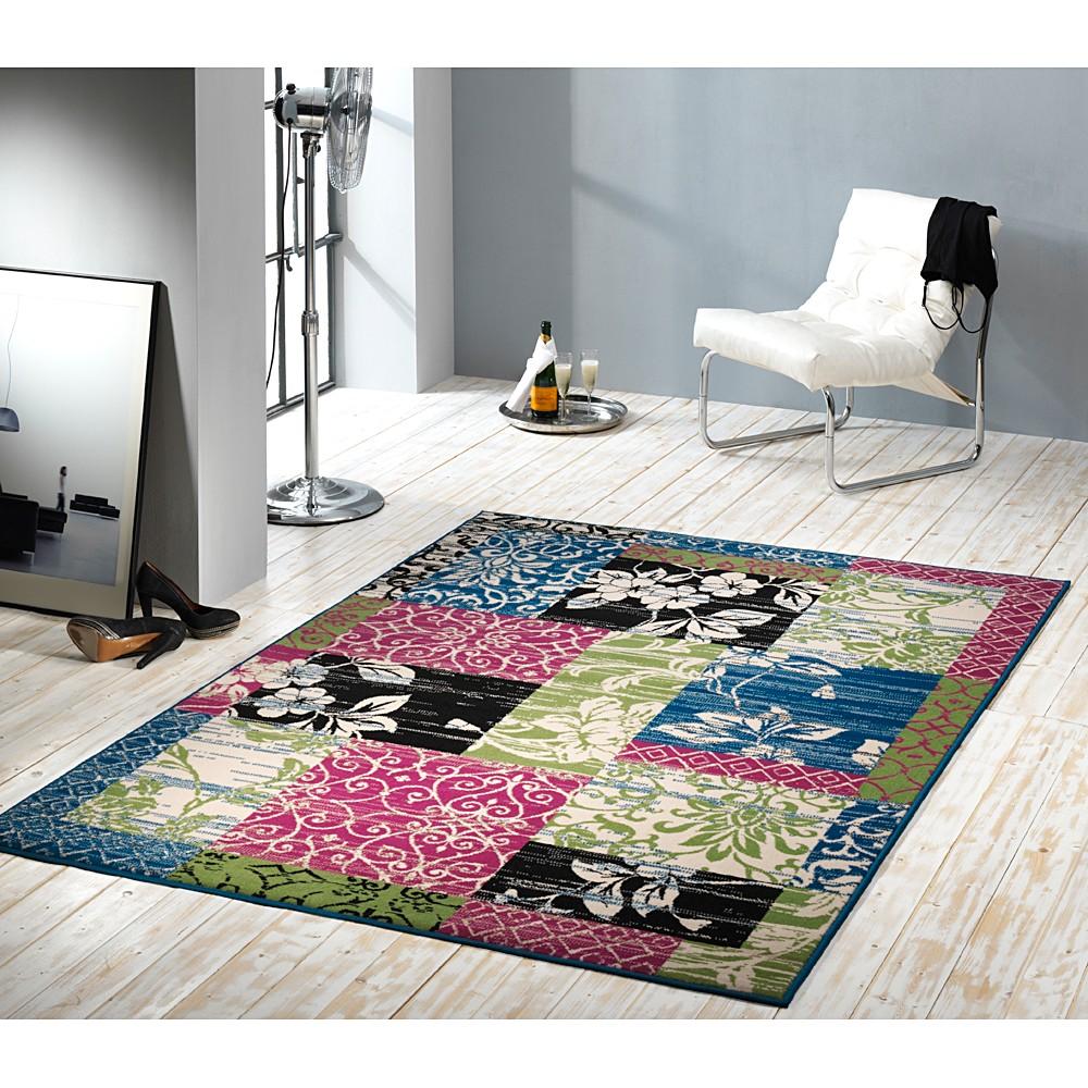 Teppich Heila – Pink/Grün – 190 x 280 cm, Hanse Home Collection günstig bestellen