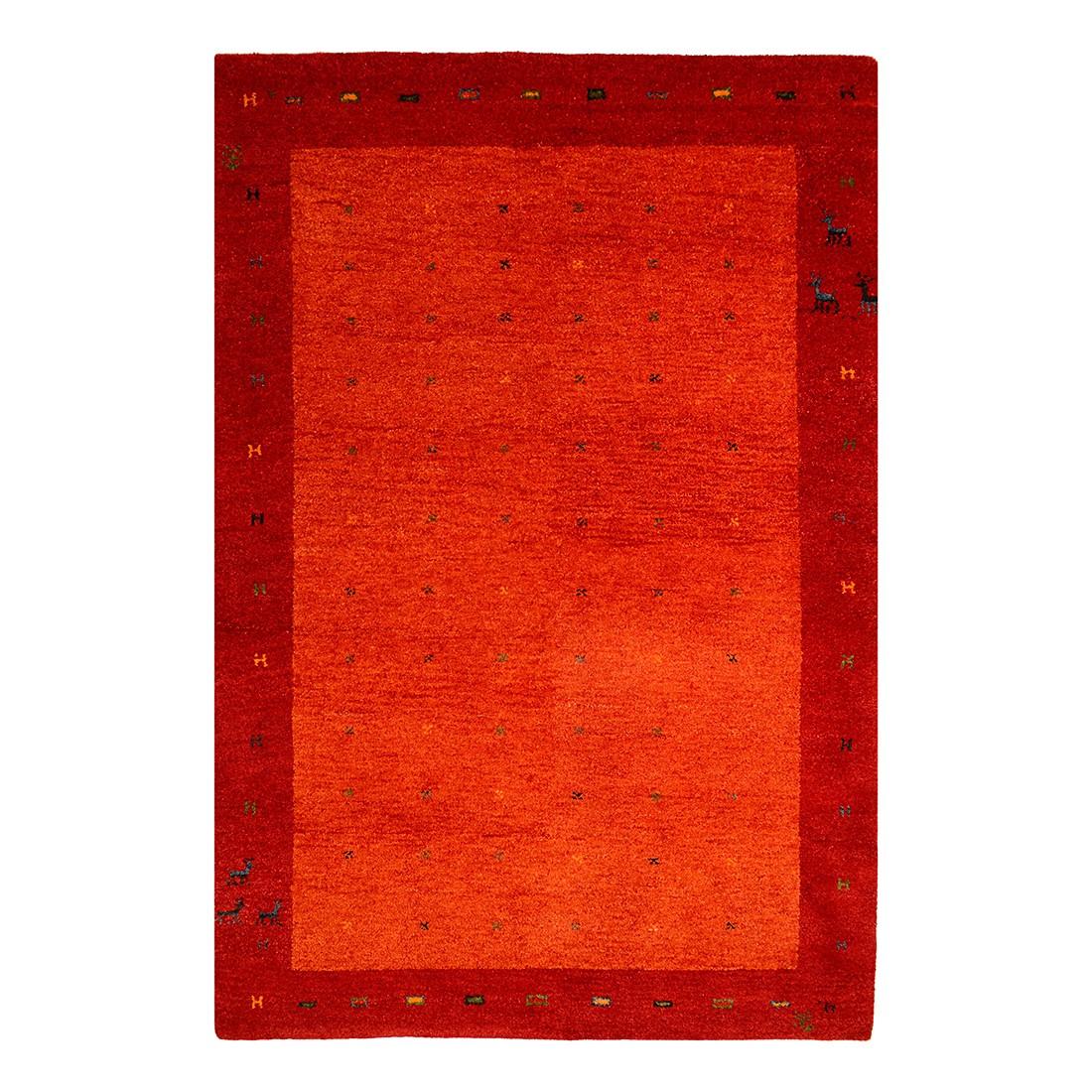 Teppich-Indo Gabbeh Vadodara – Rot – 170 x 240 cm, Parwis günstig bestellen