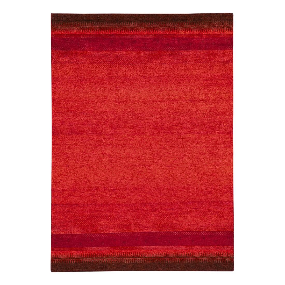 Teppich-Indo Gabbeh Vizianagaram – Rot – 70 x 140 cm, Parwis günstig online kaufen