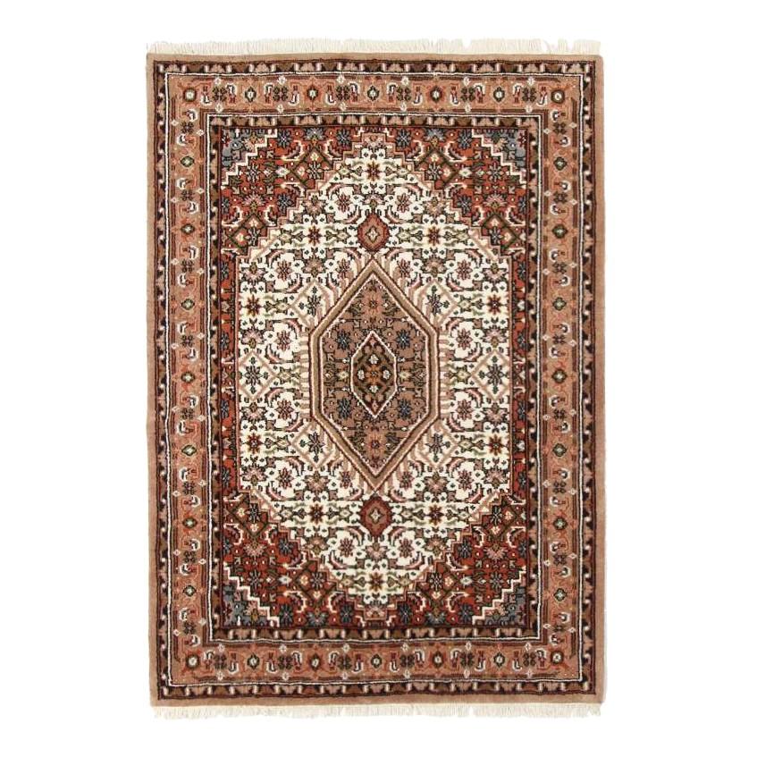 Teppich-Indo Hyderabad Beige – Reine Wolle – 60 x 90 cm, Parwis online bestellen