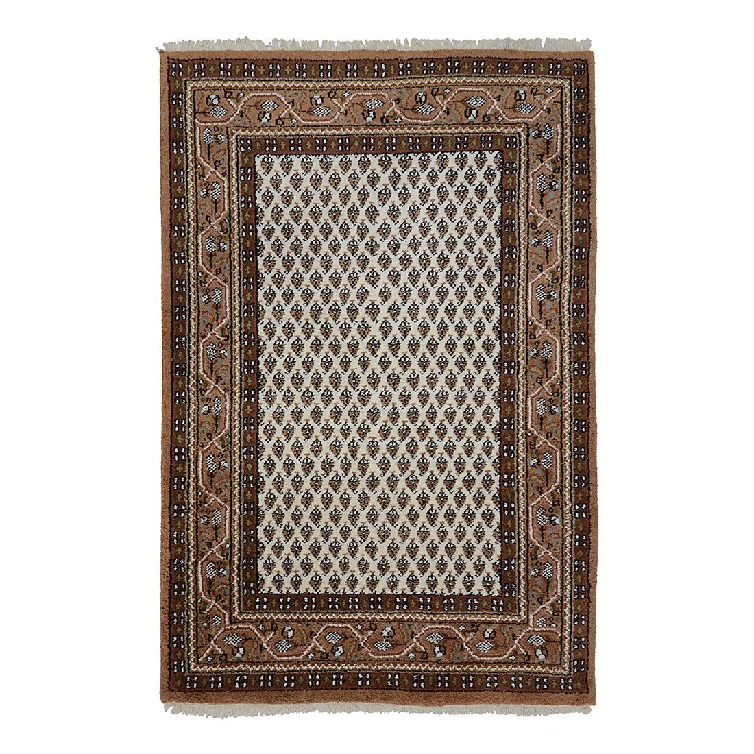 teppich indo mir dehli beige reine wolle 120 x 180 cm parwis g nstig bestellen. Black Bedroom Furniture Sets. Home Design Ideas
