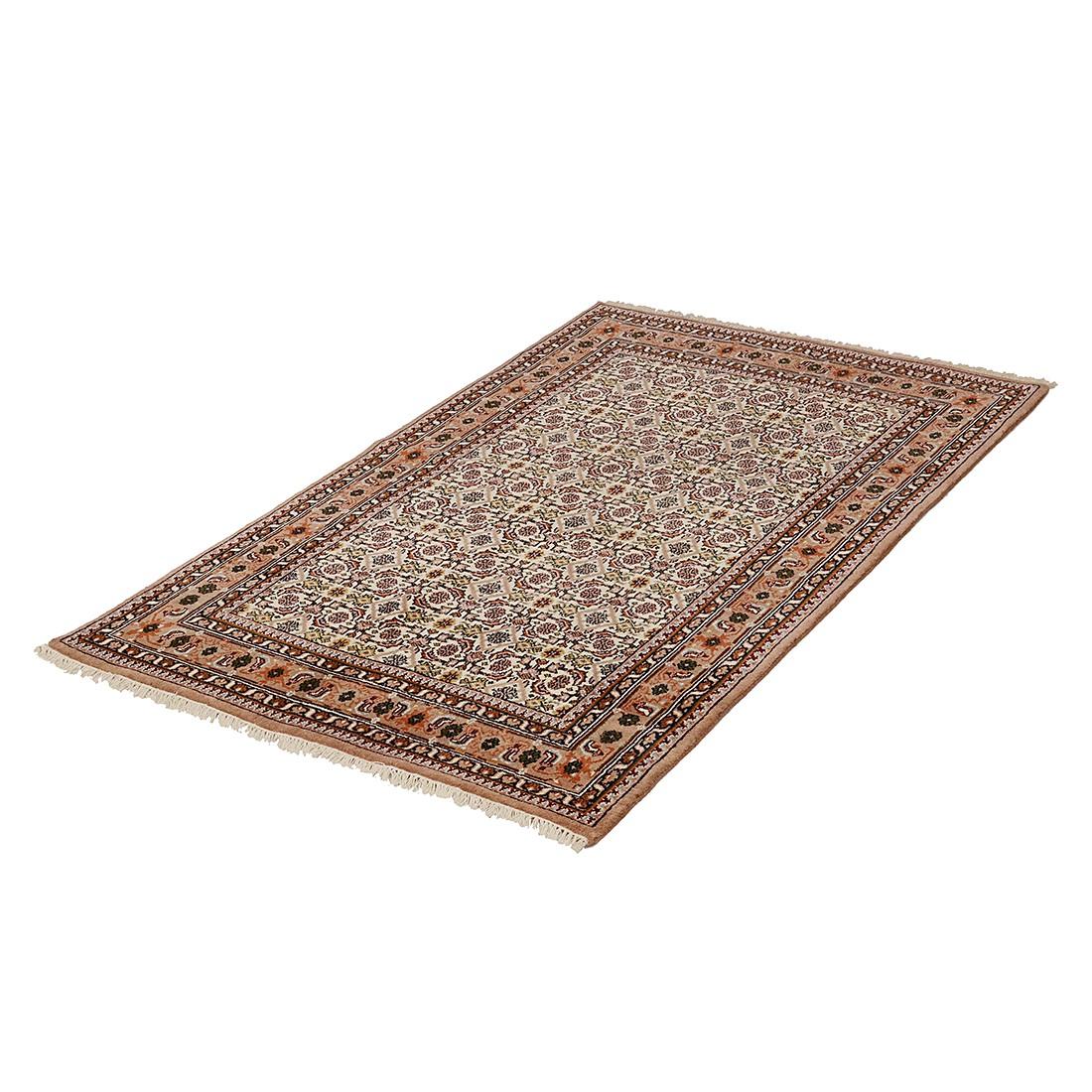 Teppich-Indo Royal Kolkata Beige – Reine Schurwolle – 90 x 160 cm, Parwis günstig