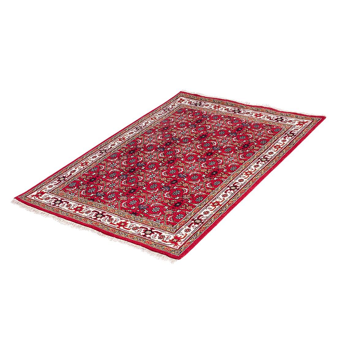 Teppich-Indo Royal Kolkata Rot – Reine Schurwolle – 90 x 160 cm, Parwis jetzt kaufen