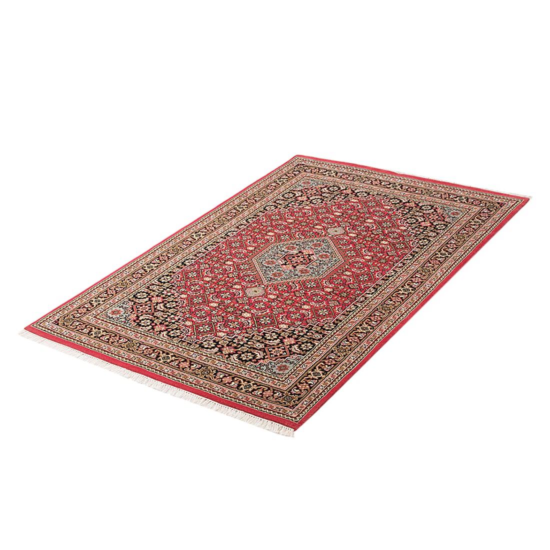 Teppich-Indo Royal Mumbai Rot – Reine Wolle – 90 x 160 cm, Parwis günstig kaufen