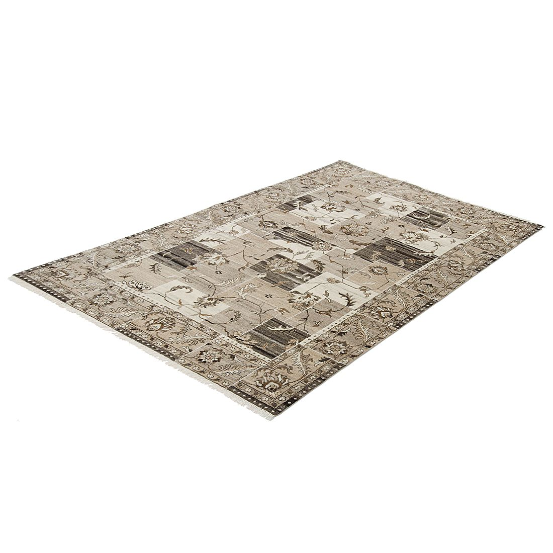 Teppich Irun Patch - Natur - Maße: 200 x 140 cm, Parwis