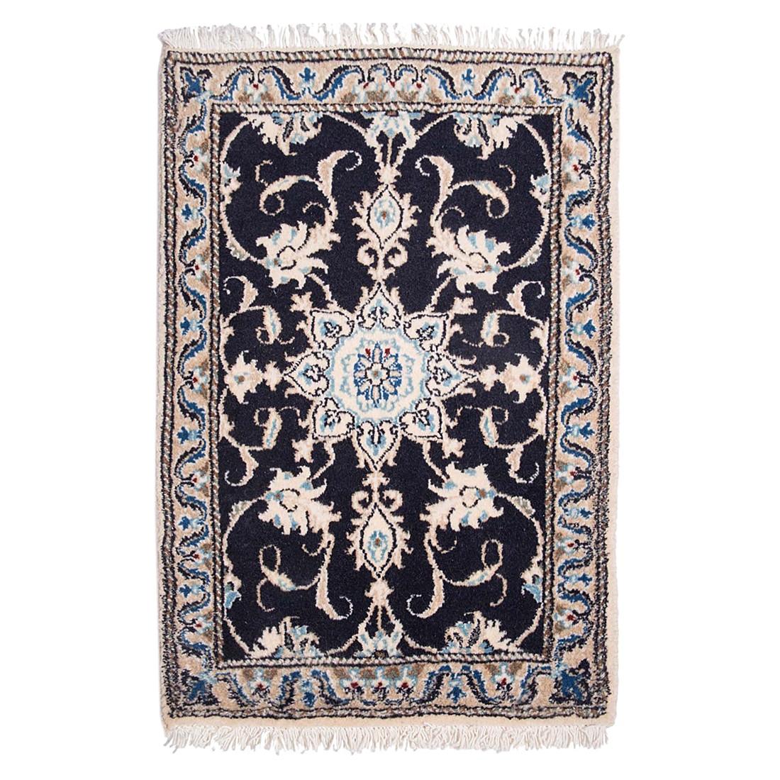 Teppich-Khorasan Nain Schwarz – Reine Schurwolle – 70 x 140 cm, Parwis günstig