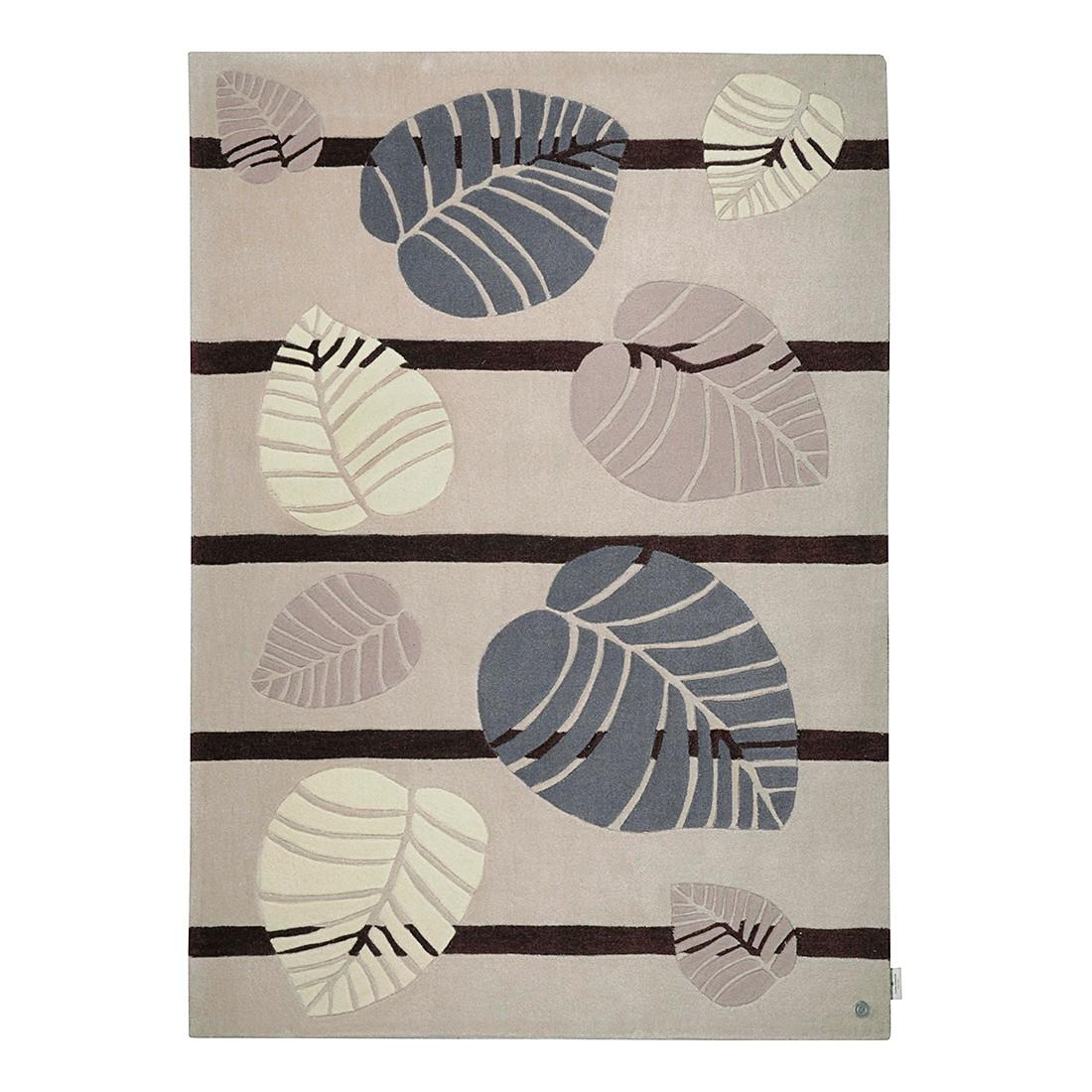 Teppich Life Leaf – Beige – Maße: 65 x 135 cm, Tom Tailor günstig