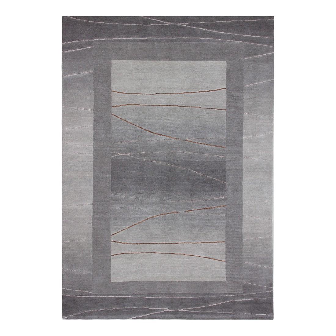 Teppich Linea – Wolle/ Silber – 90 cm x 160 cm, Luxor living bestellen