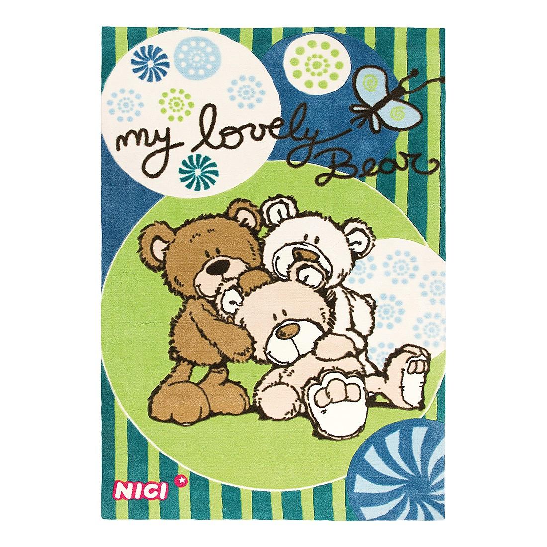 Teppich Lovely Bear – Grün/Blau, Nici günstig online kaufen