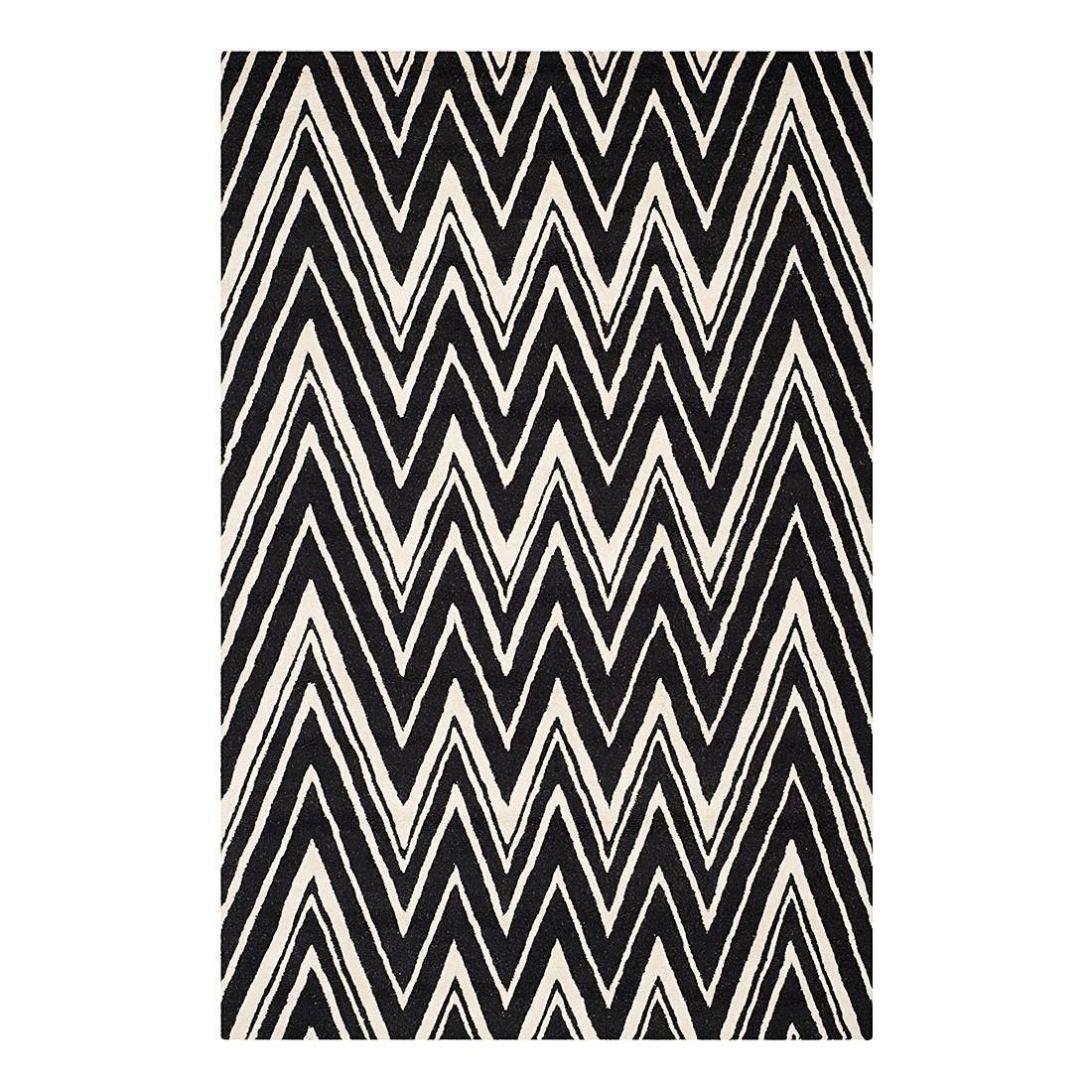 Teppich Luca – Schwarz/Creme – Maße: 152 x 243 cm, Safavieh online kaufen