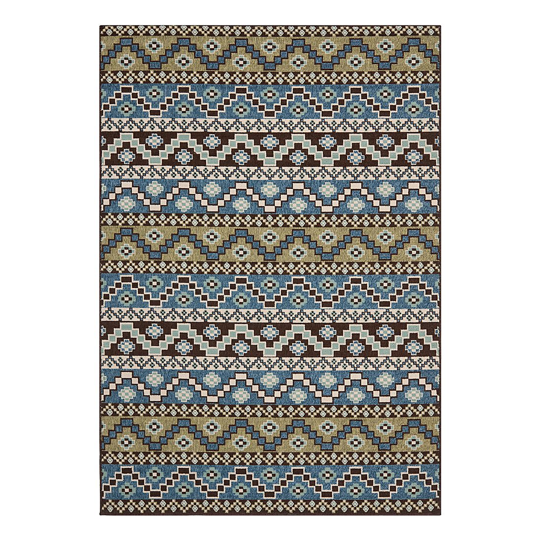 Teppich Marea – Blau/Creme – Maße: 78 x 152 cm, Safavieh günstig online kaufen