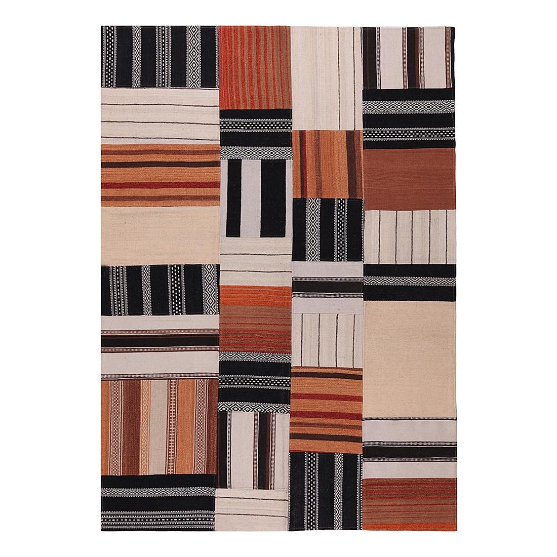 Teppich Mash Up – Wolle/Schwarz- Braun – 240 x 170 cm, Talis Teppiche günstig