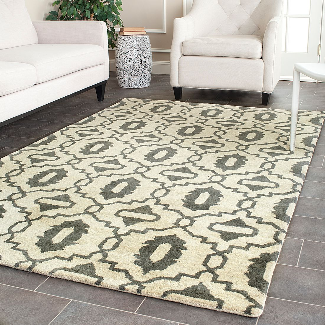 teppich mercer beige grau safavieh online bestellen. Black Bedroom Furniture Sets. Home Design Ideas