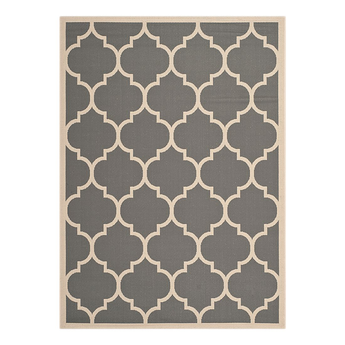 In-/Outdoorteppich Monaco - Anthrazit/Beige - 122 x 171 cm, Safavieh