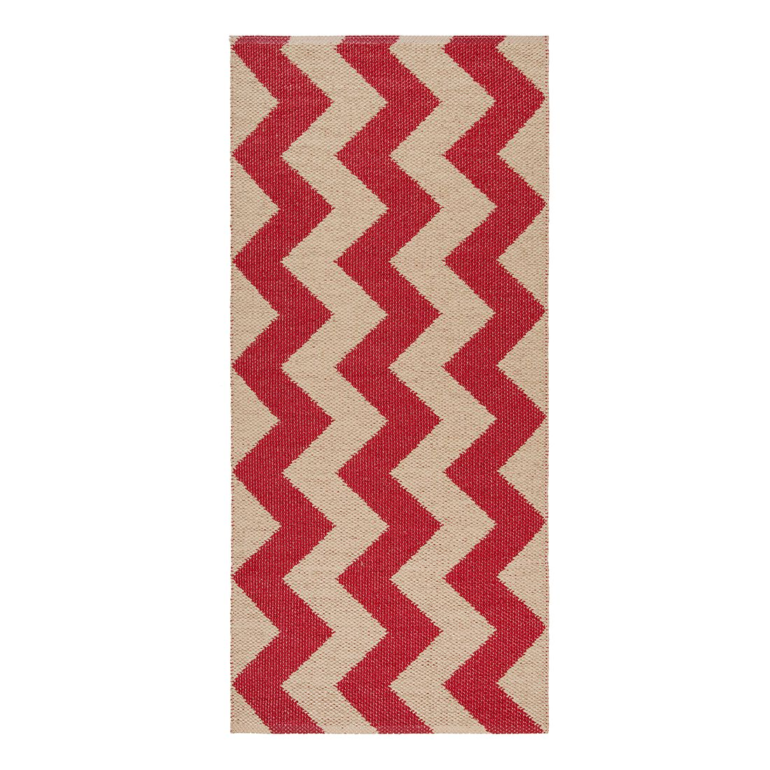in outdoorteppich mora i kunstfaser rot beige 60 x 200 cm swedy g nstig kaufen. Black Bedroom Furniture Sets. Home Design Ideas