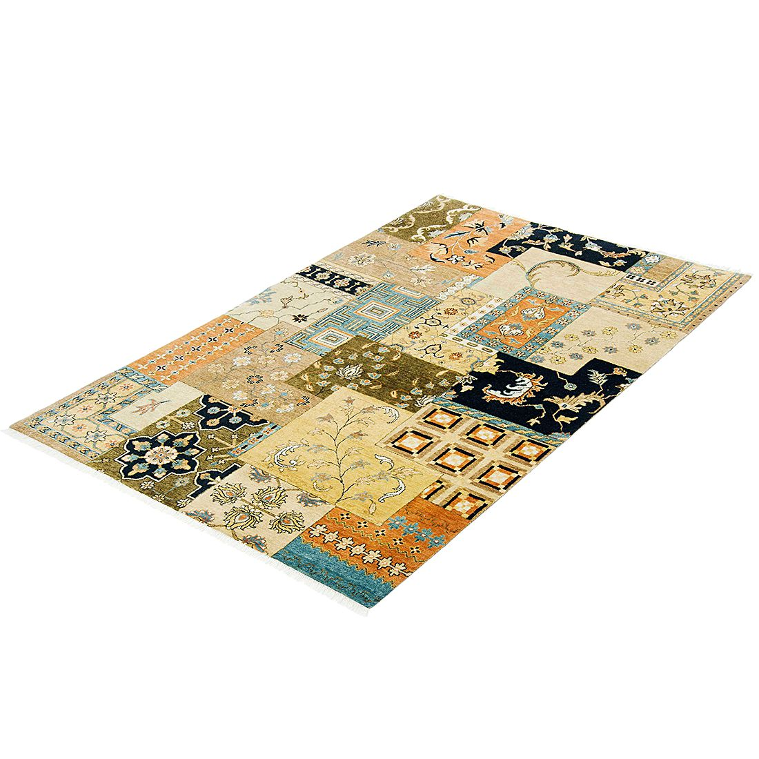 Teppich Motril Patch – Beige – Maße: 200 x 140 cm, Parwis günstig online kaufen
